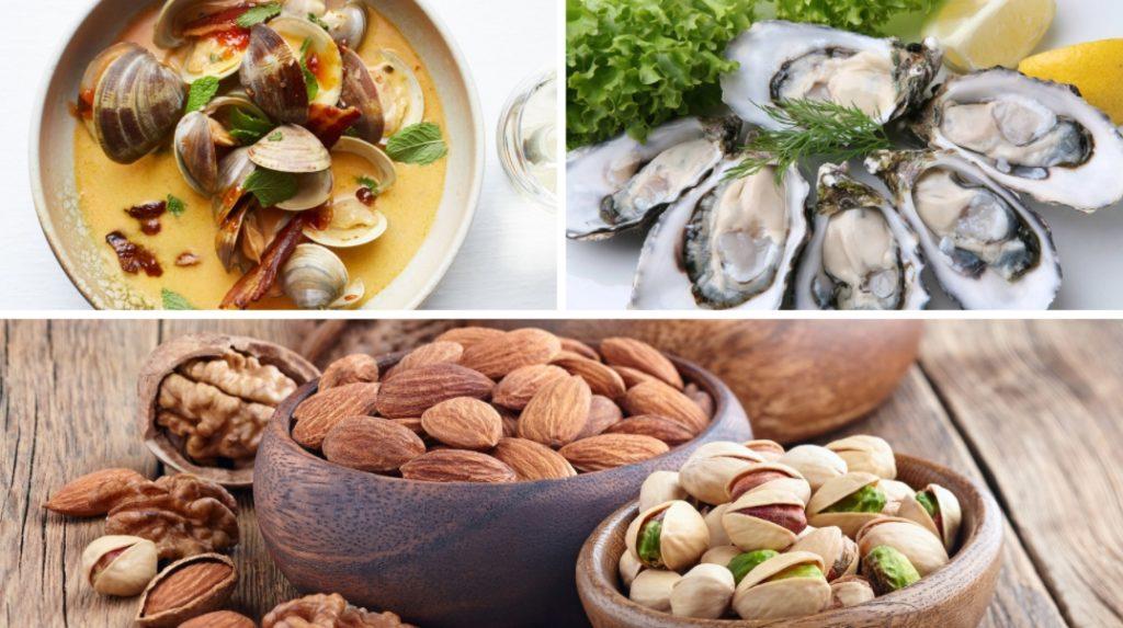Морепродукты и орехи
