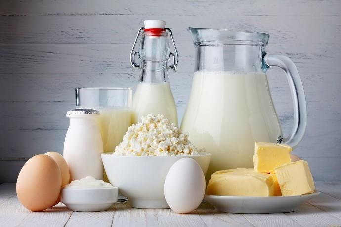 Кисломолочные продукты и яйца