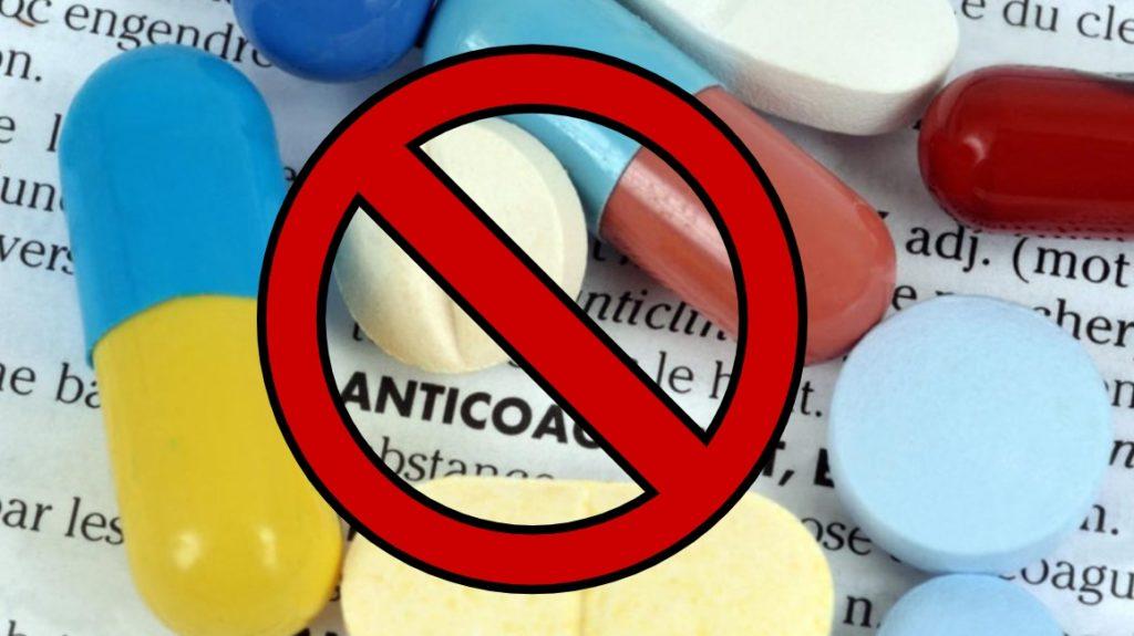 Запрещены антикоагулянты